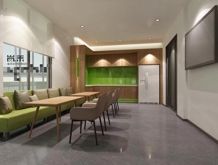 此处会议室设计有所不同,因为其地址在负一层,设计师除了要保证本身的