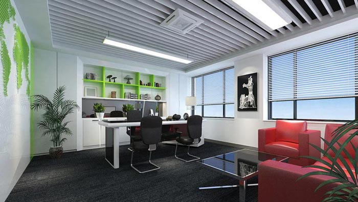 办公室_150平方小型创意办公室装修设计案例效果图_岚禾办公空间设计