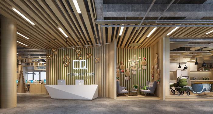 1000平方电子商务办公室装修设计案例