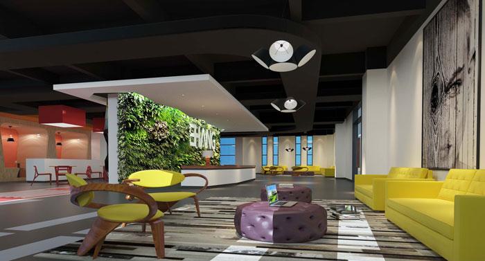 1800平方大型創意辦公室裝修設計案例