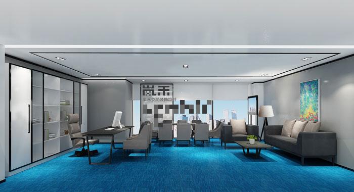 060平方大型创意办公室装修设计案例效果图