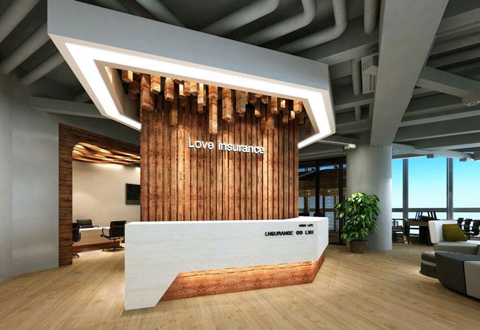 950平方中型创意办公室装修设计案例效果图