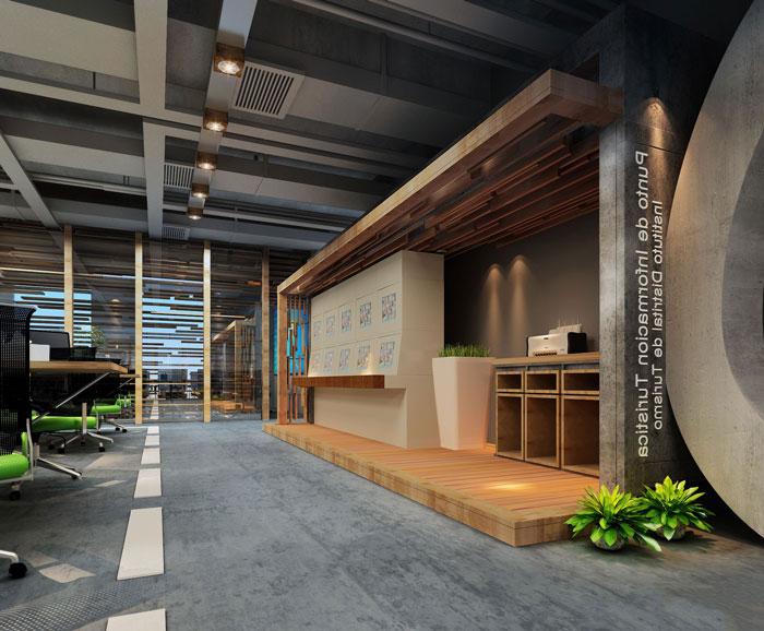 100平方大型创意办公室装修设计案例效果图 岚禾办公空间设计