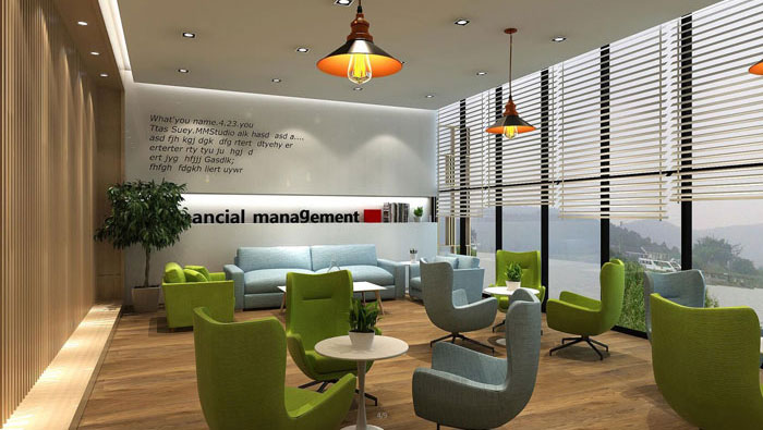 环保服装设计图_560平方中型办公室装修设计案例效果图_岚禾办公空间设计