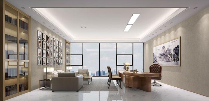 1200平方大型办公室装修设计案例