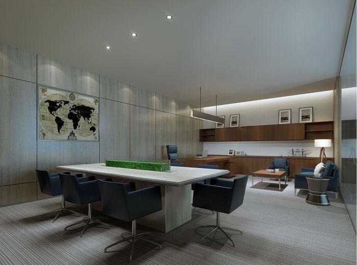 430平方大型创意办公室装修设计案例效果图