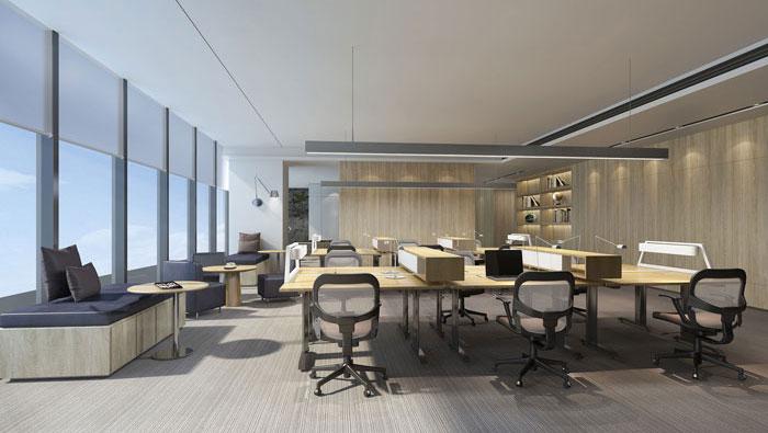 1410平方大型创意办公室装修设计案例