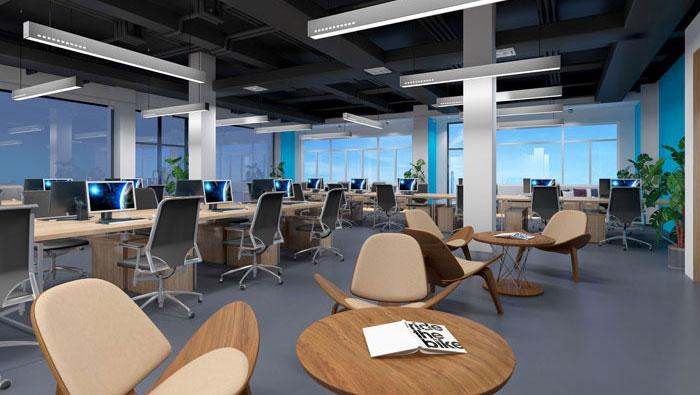 920平方中大型办公室装修设计案例