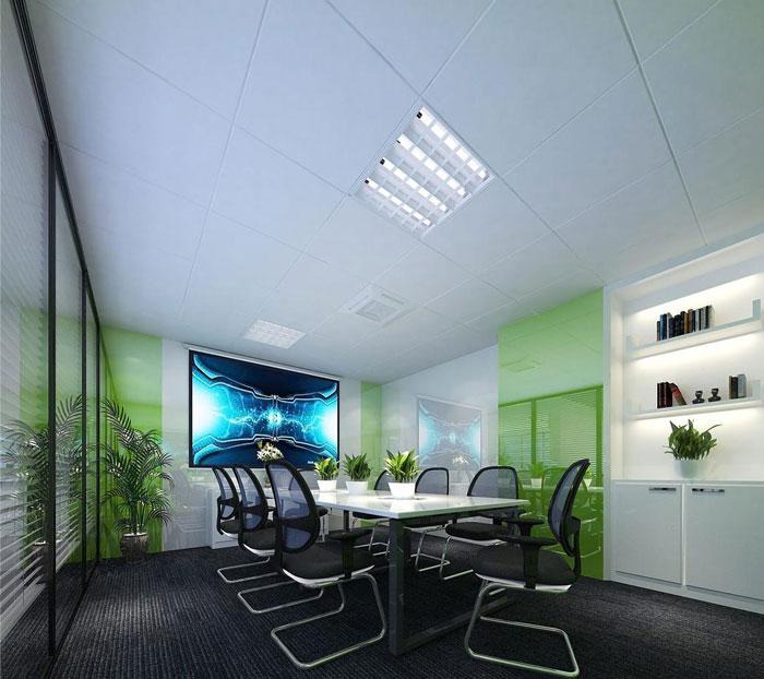 科技公司办公室会议室软装设计效果图