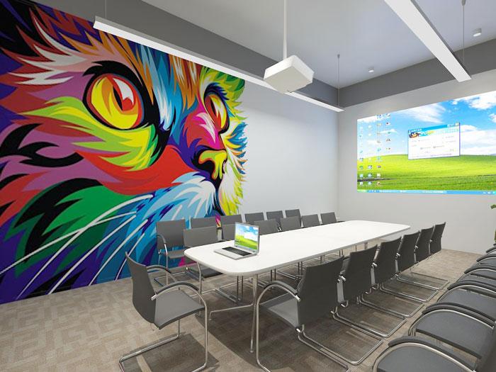 350平方APP设计公司办公室会议室软装设计方案效果图