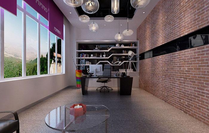 500平方服装公司总经理办公室软装设计效果图