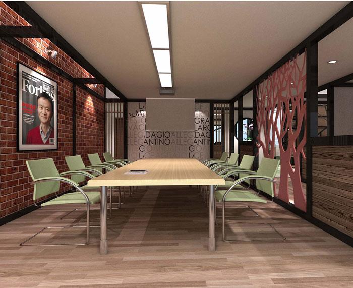 1000平方电子商务办公室会议室软装设计效果图