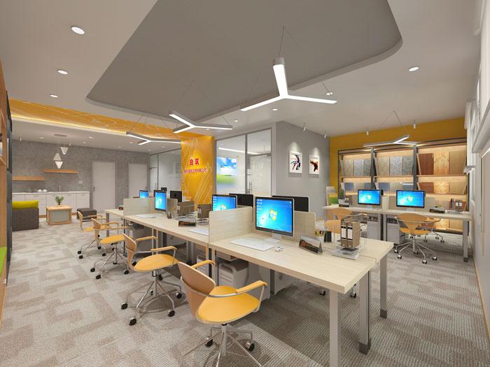 420平方装修公司办公室办公区域软装设计效果图