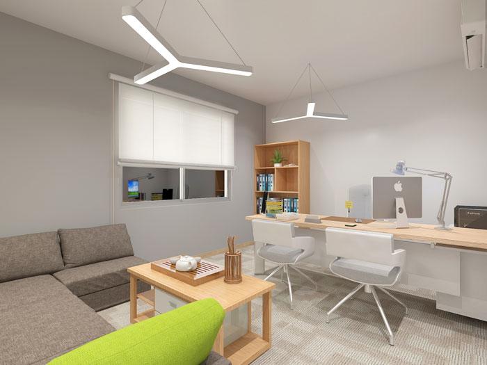 420平方装修公司总经理办公室软装设计效果图
