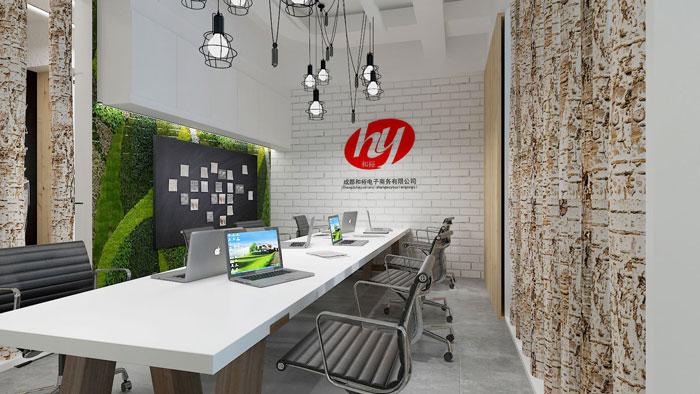 450平方电子商务办公室软装设计效果图