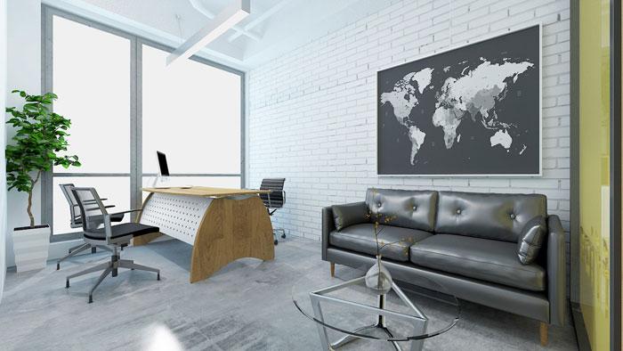 450平方电子商务总经理办公室软装设计效果图