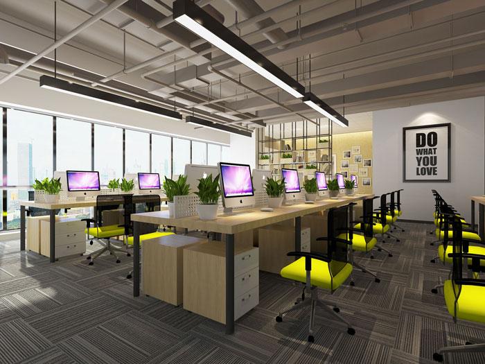600平方乳业公司办公室软装