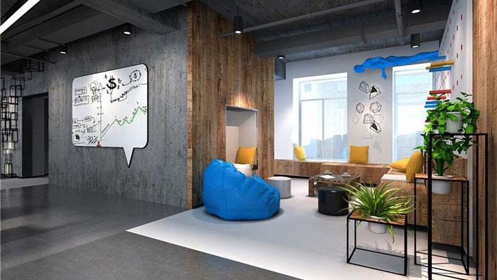 1286平方大型办公室装修设计案例