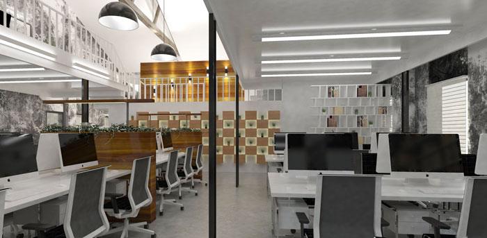 1020平方大型办公室装修设计案例