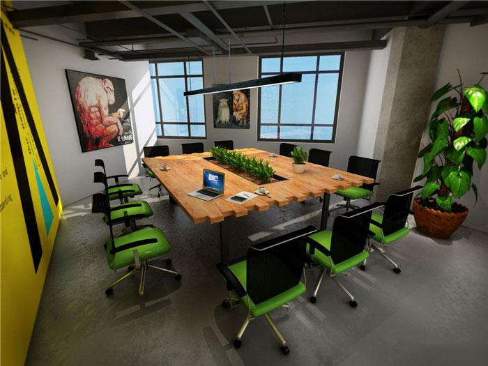 1450平方辦公室辦公空間軟裝設計方案效果圖