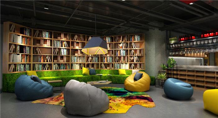 1450平方辦公室休息區域軟裝設計方案效果圖