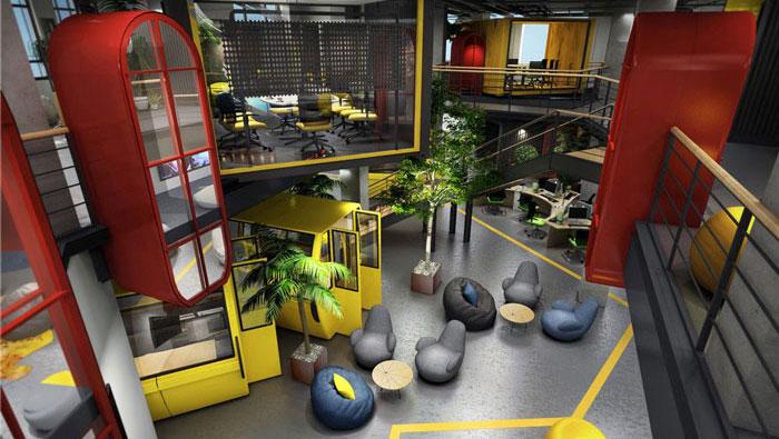 1420平方大型办公室装修设计案例