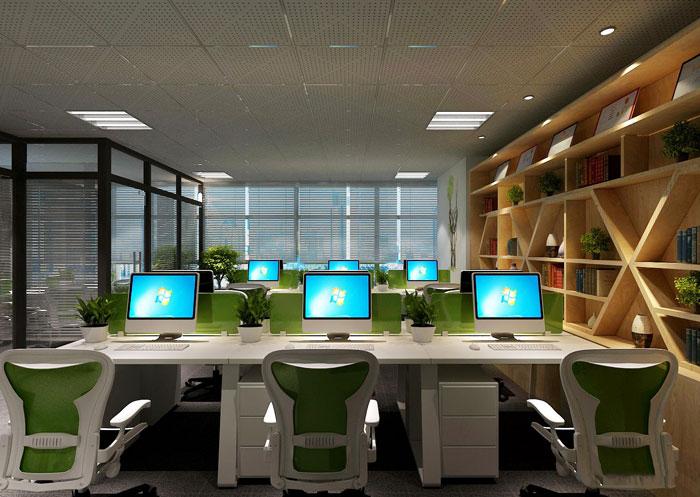110平方办公室装修设计案例效果图