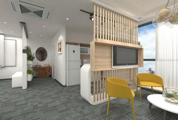 270平方小型办公室装修设计效果图