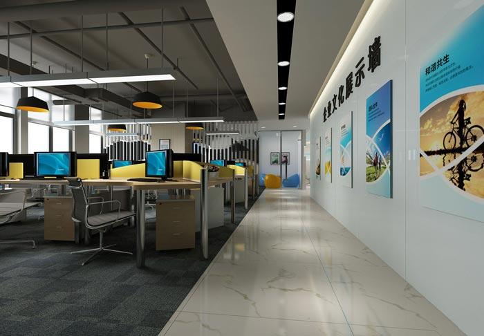 600平方培训机构办公室办公区域装修设计案例效果图