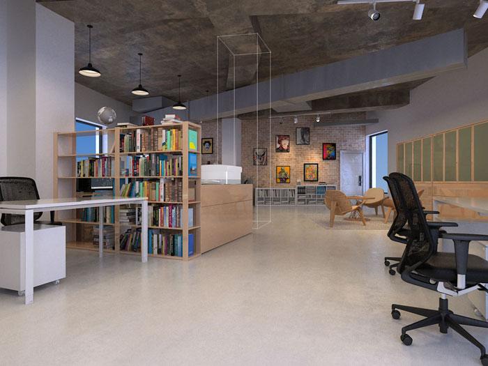 办公空间配饰装修设计效果图