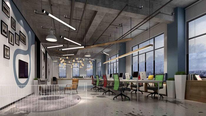 1000平方工业风办公室装修设计案例