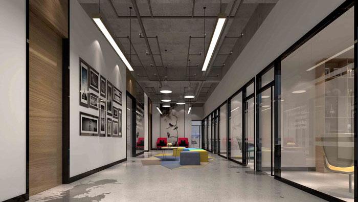 1000平方工業風辦公室裝修設計案例