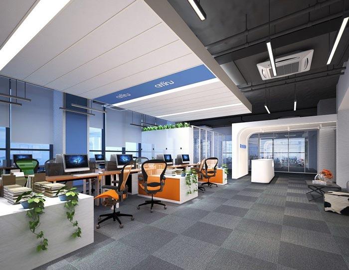 金融投资公司办公室装修设计案例效果图
