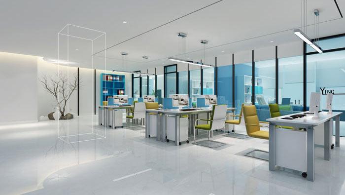 服装公司办公室办公区域装修设计案例