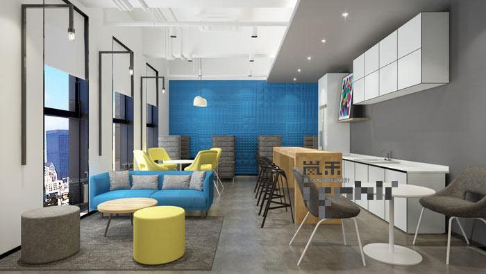 简约风格办公室茶水间装修设计案例效果图