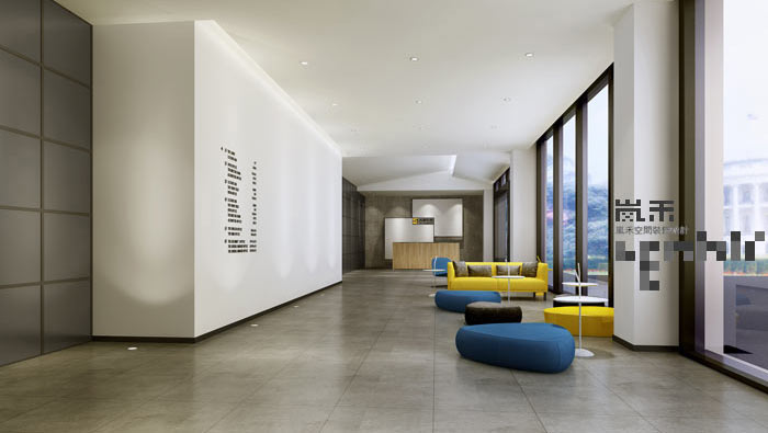 简约风格办公室大厅装修设计案例效果图