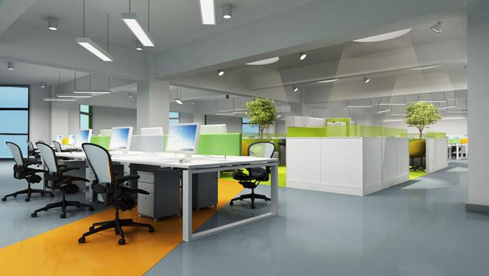 办公家具厂房办公室动线装修设计案例效果图