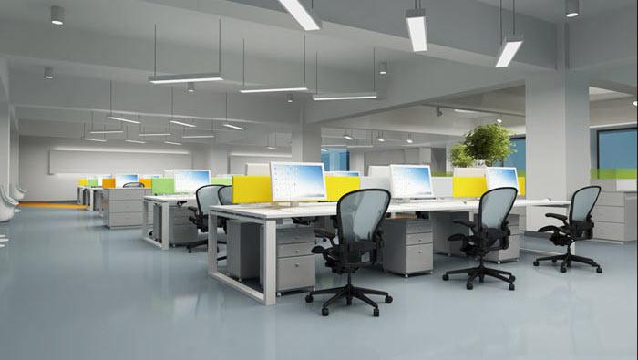 办公家具厂房办公室办公区域装修设计案例效果图