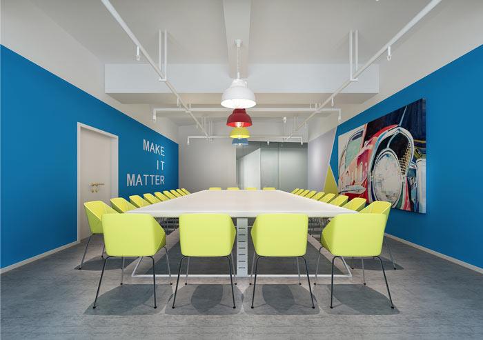 办公家具厂房办公室会议室装修设计案例效果图