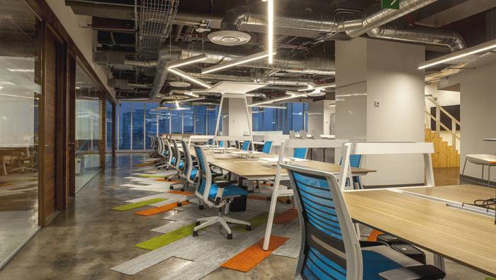 1450平方工业风办公室办公区域装修设计案例效果图
