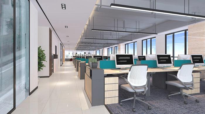 广告传媒公司办公室装修设计案例