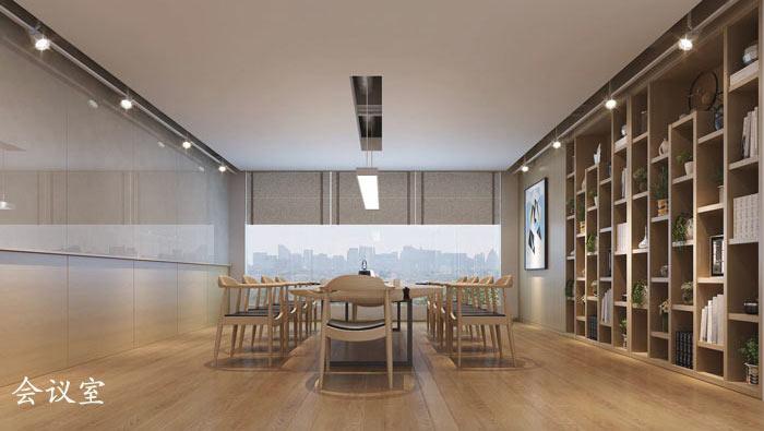 1200平方工业风办公室装修设计案例效果图_岚禾办公空间设计