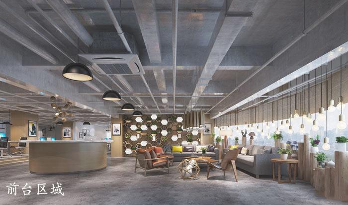 1200平方工业风办公室装修设计案例