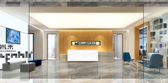 600平方律师事务所办公室前台装修设计案例效果图