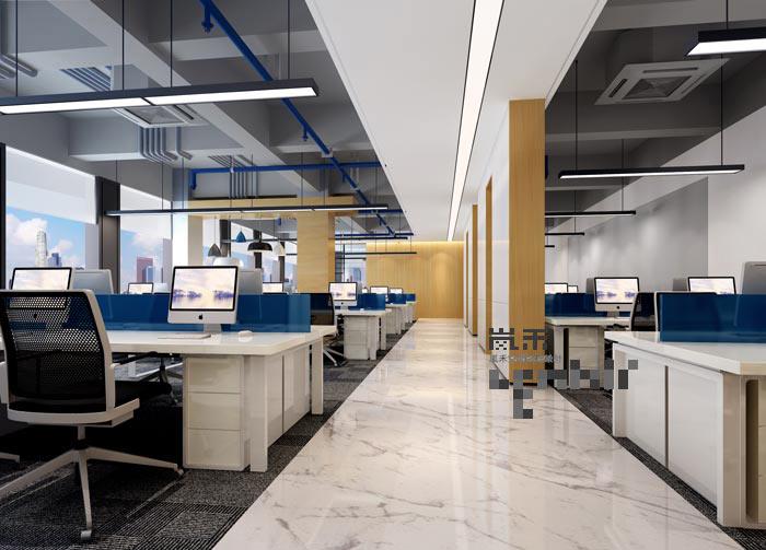 600平方律师事务所办公室办公区域装修设计案例效果图