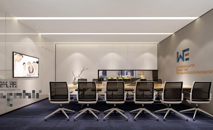 600平方律师事务所办公室会议室装修设计案例效果图