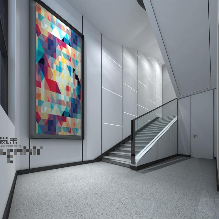 led发光二极管厂家办公室楼梯装修设计案例效果图