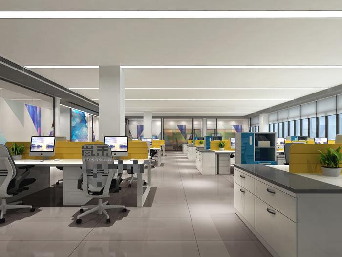 led发光二极管厂家办公室办公区域装修设计案例效果图