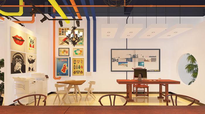 小型广告工作室装修效果图_岚禾工作室设计
