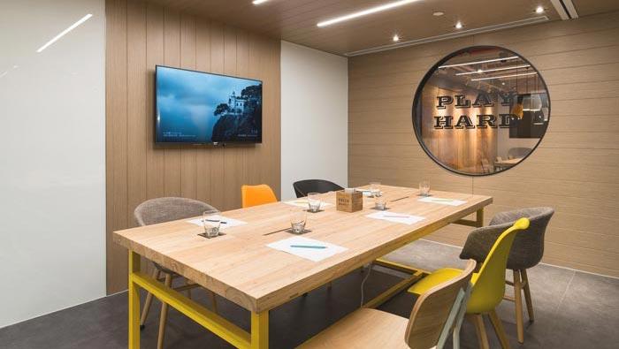 文化创意公司办公室装修设计案例效果图_岚禾办公空间设计